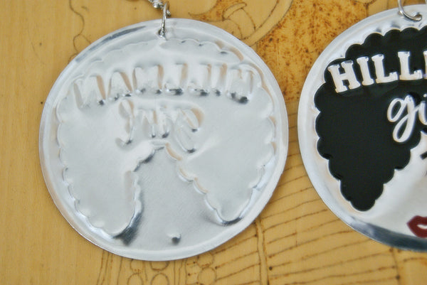 'Hillman Girl' HBCU  Collection Afro Statement Earrings
