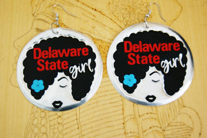 'Delaware State Girl' HBCU Collection Afro Statement Earrings