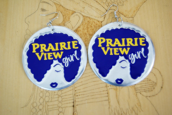 'Prairie View Girl' HBCU Collection Afro Statement Earrings