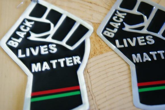 'Black Lives Matter' Handcrafted Embossed Statement Earrings
