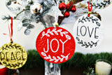 Collection of Encouragement Christmas Ornaments Textured