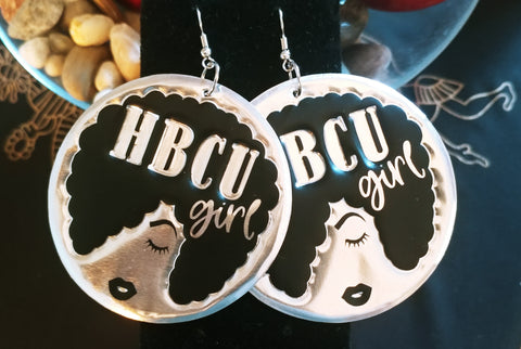 'HBCU Girl' HBCU Collection Afro Statement Earrings