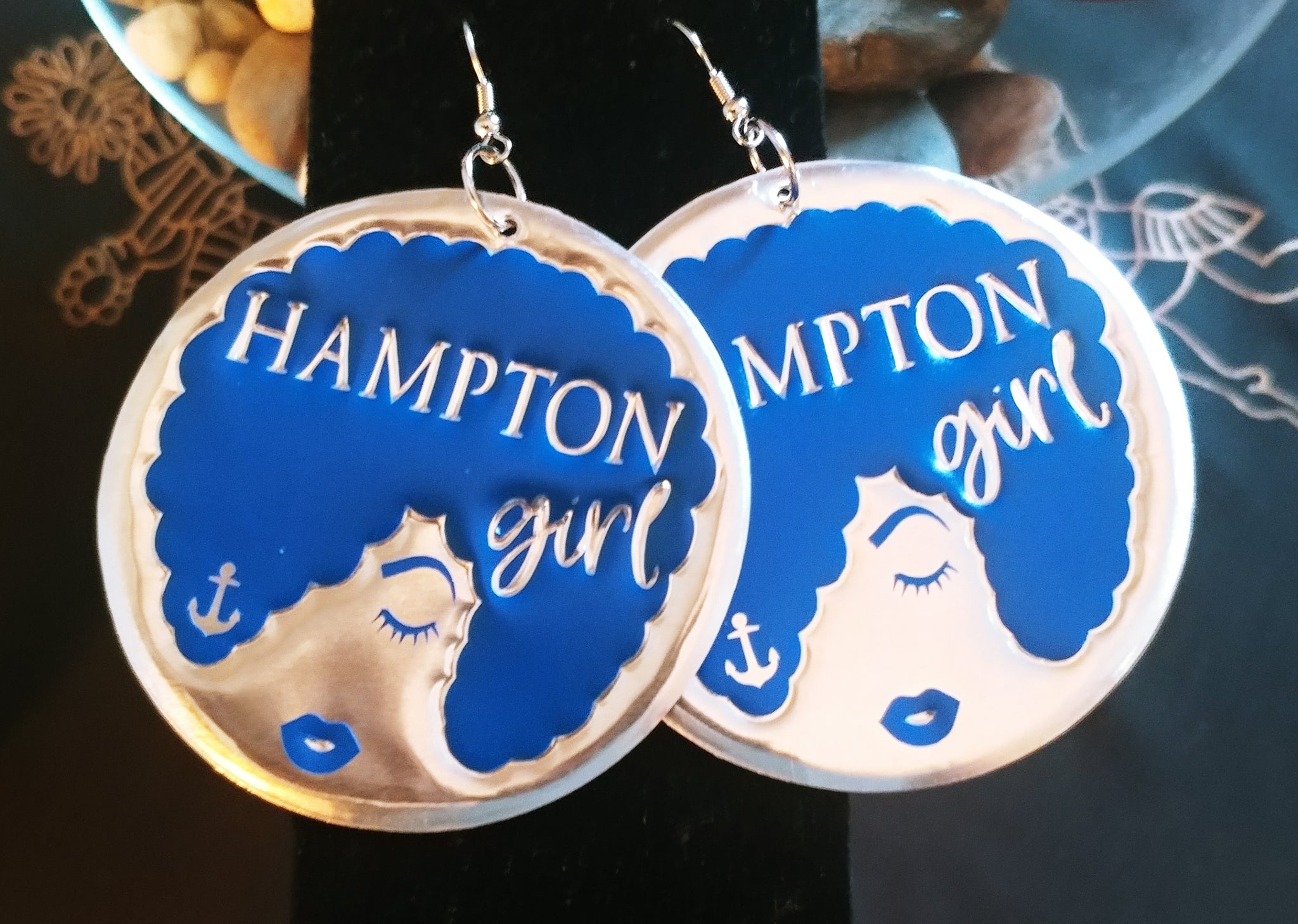 'Hampton Girl' Anchor HBCU Collection Afro Statement Earrings