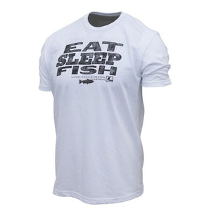 LOOP Eat Sleep Fish T-shirt - White