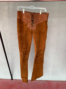 Golden Thread Outerwear Leather Pants, VINTAGE, Size 31