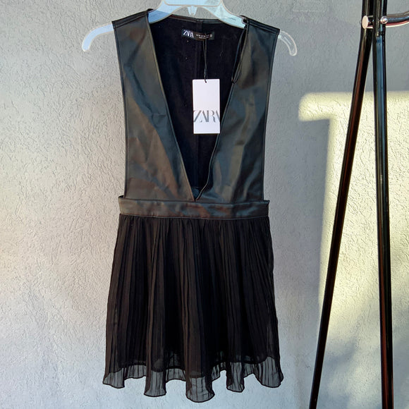 Zara Pleather Dress, NWT, Size XS