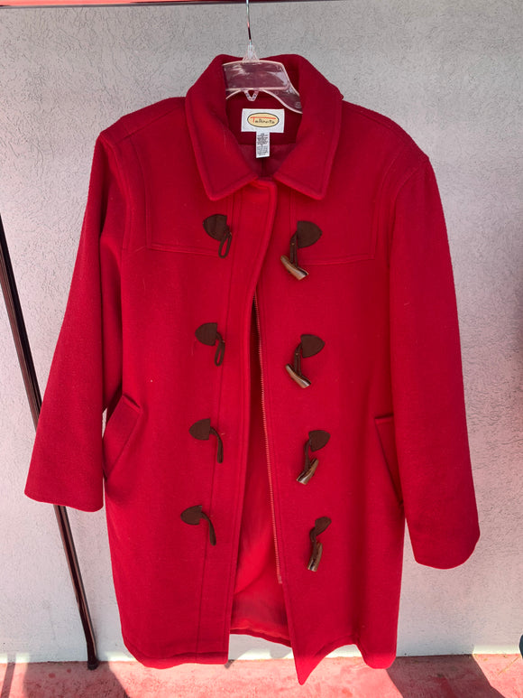 Talbots Red Coat, Size 12