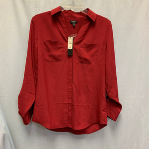 Talbots Red Button Up, NWT, Size S