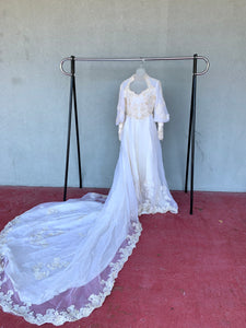 Wedding Gown and Veil, Size S