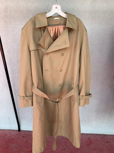 Khaki Trench Coat, VINTAGE, Roughly Size L