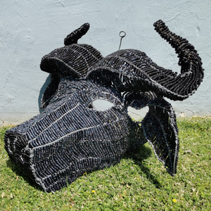 GODFREY0020 - Buffalo Beads head mount