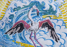 Load image into Gallery viewer, GRAFFITI0015 - Hang Five Flamingo