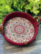 Load image into Gallery viewer, CROCHET0006 - Hand painted Crochet Basket Oval