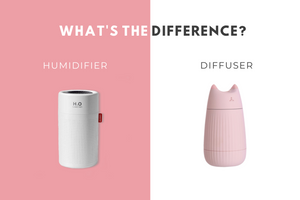 Humidifiers vs. Diffusers. What's the difference?
