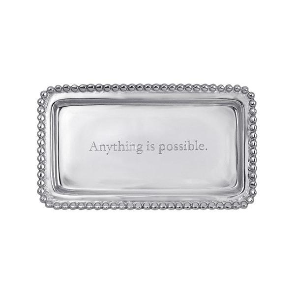 Mariposa ANYTHING IS POSSIBLE Beaded Tray