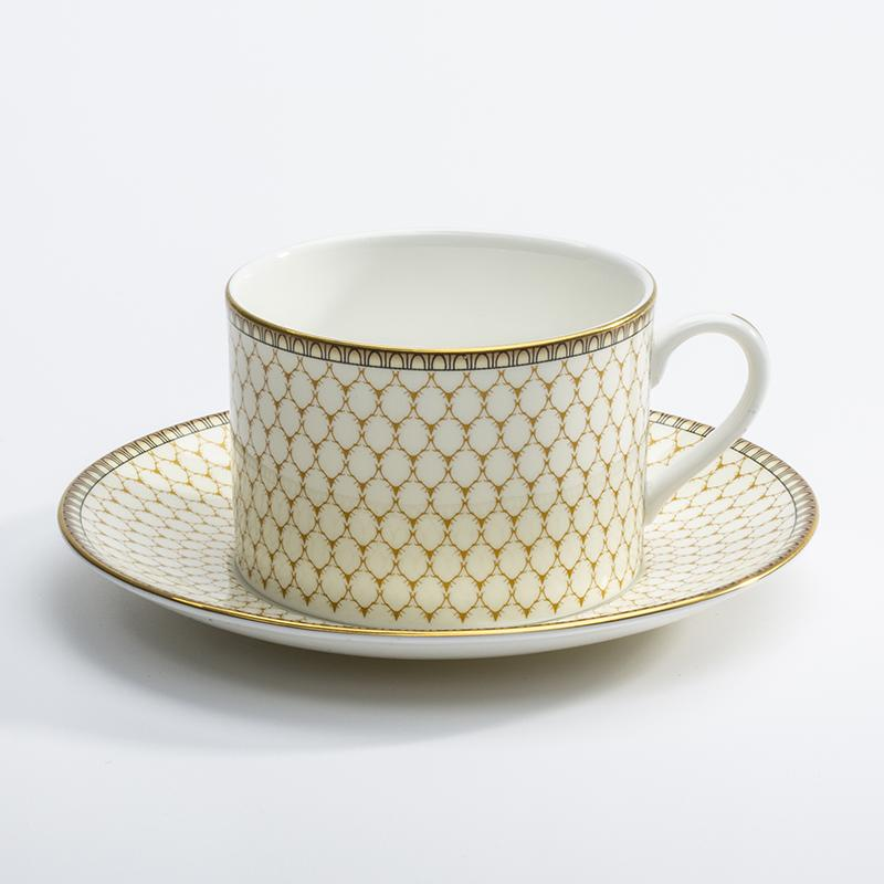 Halcyon Days Gordon Castle Antler Trellis Teacup & Saucer