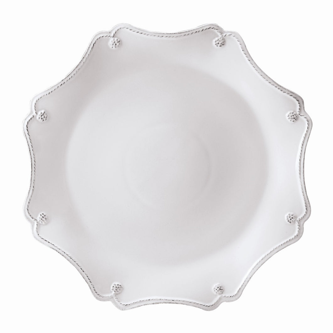 Juliska Berry & Thread Whitewash Scallop Platter/Charger