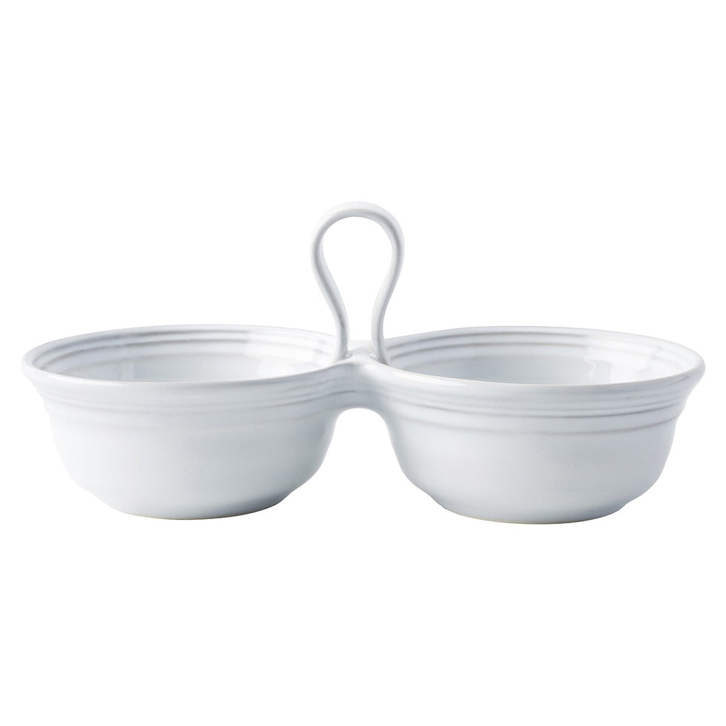 Juliska Bilbao White Truffle 2 Bowl Server