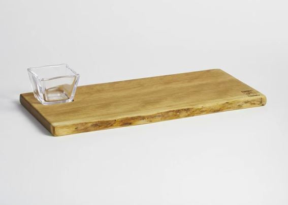 Andrew & Simon Pearce Collaboration - Pinneo Board with Glass Bowl