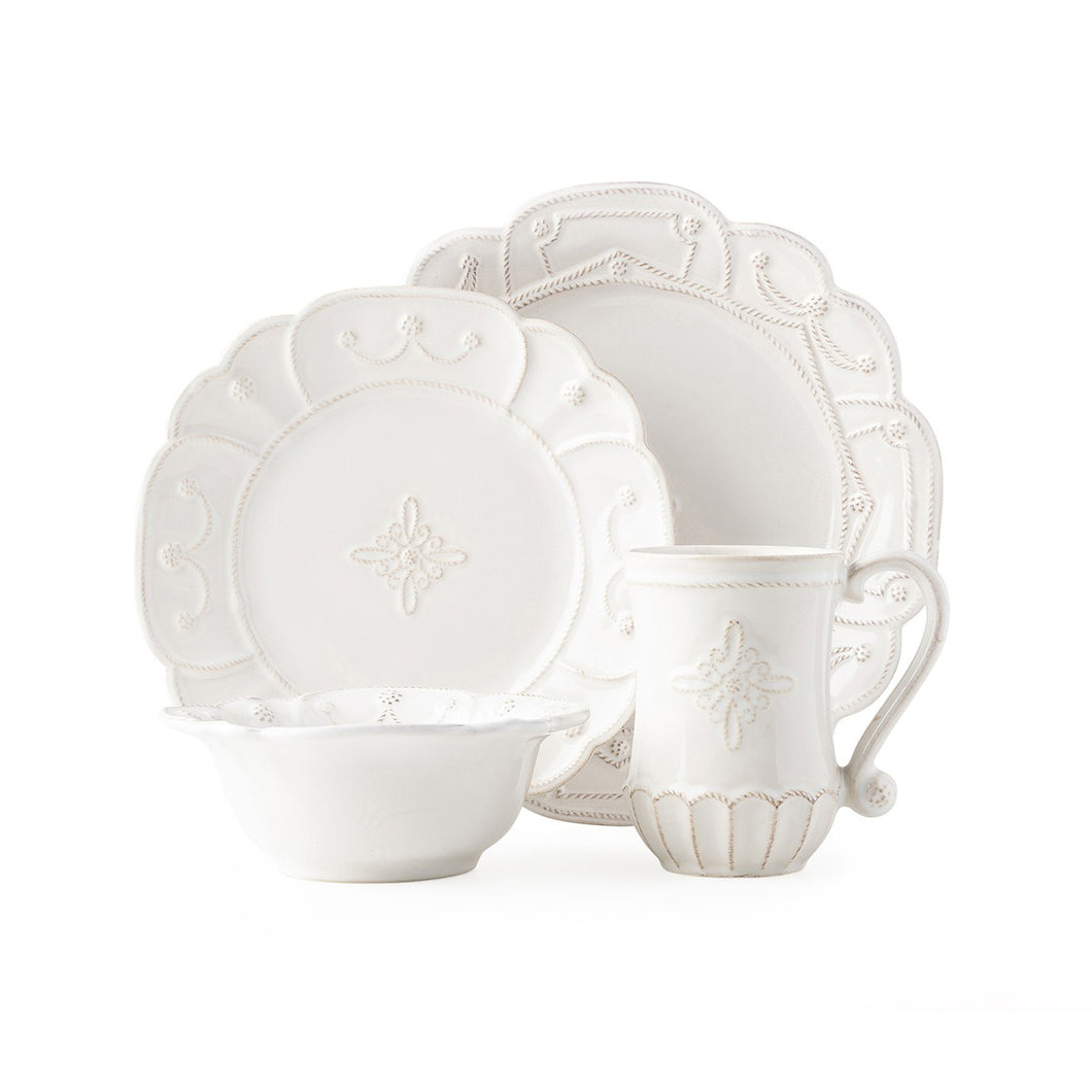 Juliska Jardins du Monde Whitewash 4pc Place Setting