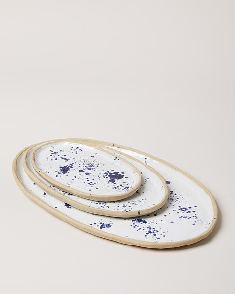 Farmhouse Pottery Painted Oval Platter - Splatter