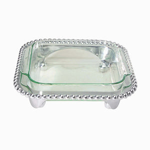 Mariposa Pearled Square Casserole Caddy