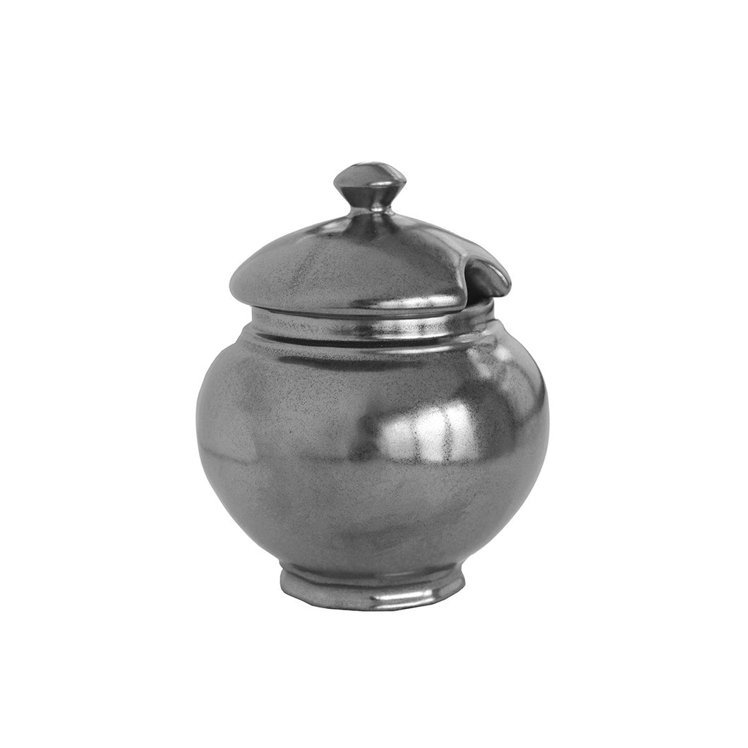 Juliska Pewter Stoneware Lidded Sugar Bowl