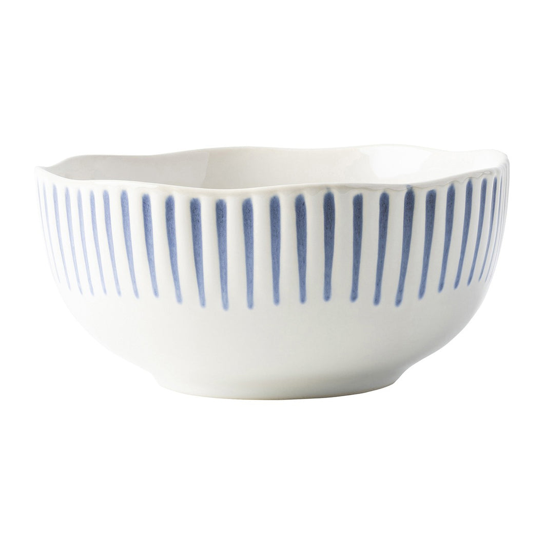 Juliska Sitio Stripe Indigo Cereal/Ice Cream Bowl