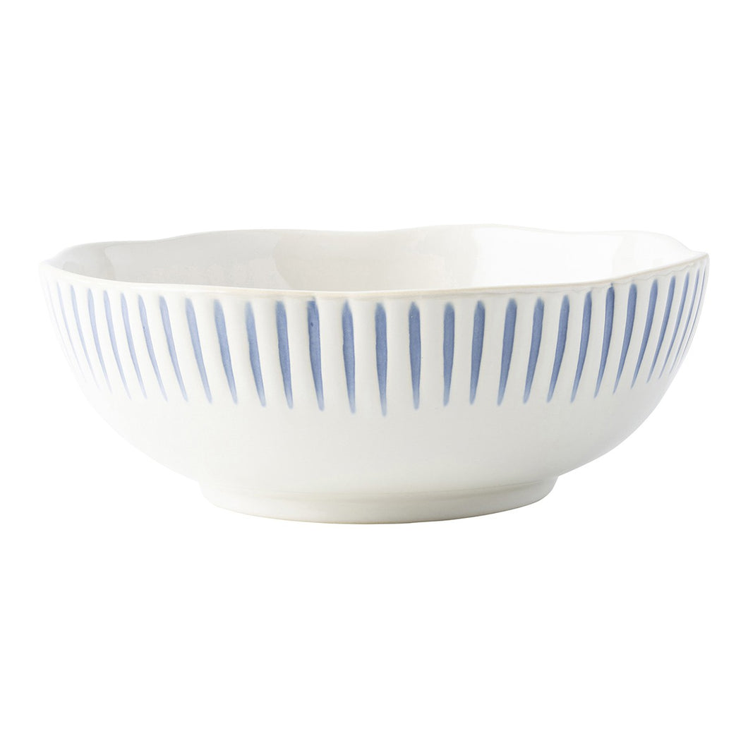 Juliska Sitio Stripe Indigo Coupe Bowl