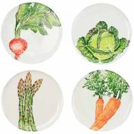 Vietri Spring Vegetables Assorted Plates, s/4