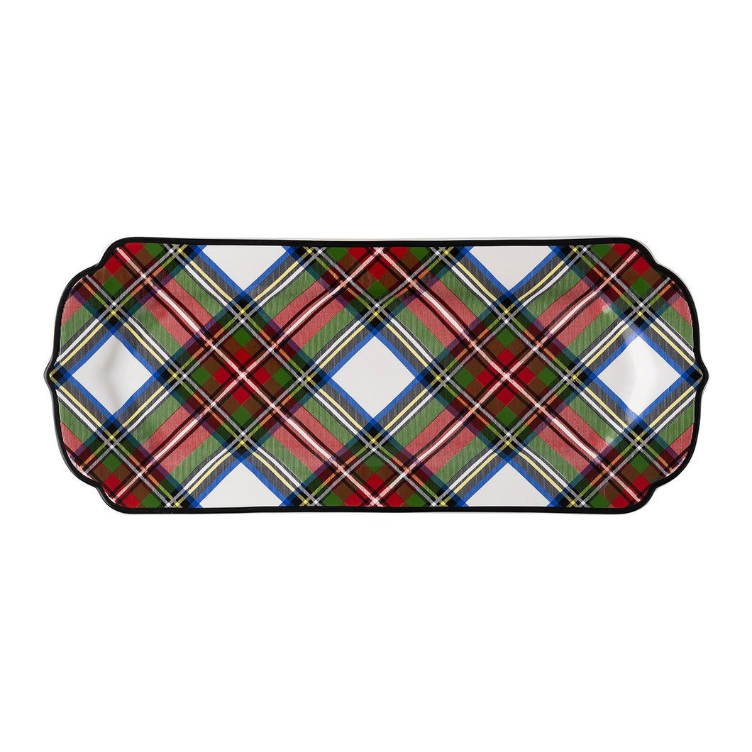 Juliska Stewart Tartan Hostess Tray