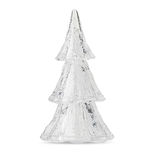 "Juliska Berry & Thread 10.5"" 3pc Stacking Glass Tree in Clear with Snow"