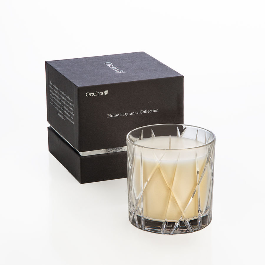 Orrefors Home Fragrance Collection City Candle - Warm Amber and Oakmoss