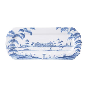 Juliska Country Estate Delft Blue Hostess Tray Garden Party