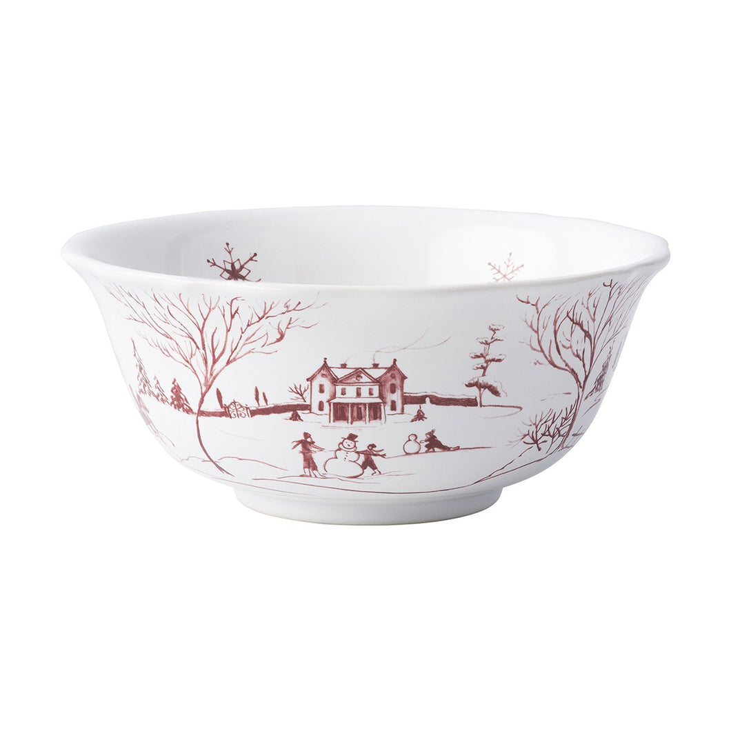 Juliska Country Estate Winter Frolic Ruby Cereal/Ice Cream Bowl