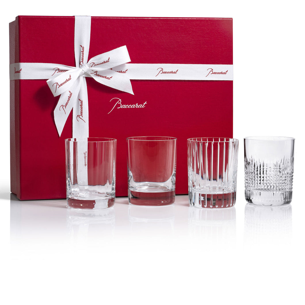 Baccarat Four Elements Double Old Fashion Tumblers, Boxed Set of 4