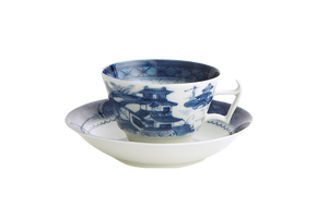 Mottahedeh Blue Canton Cup & Saucer