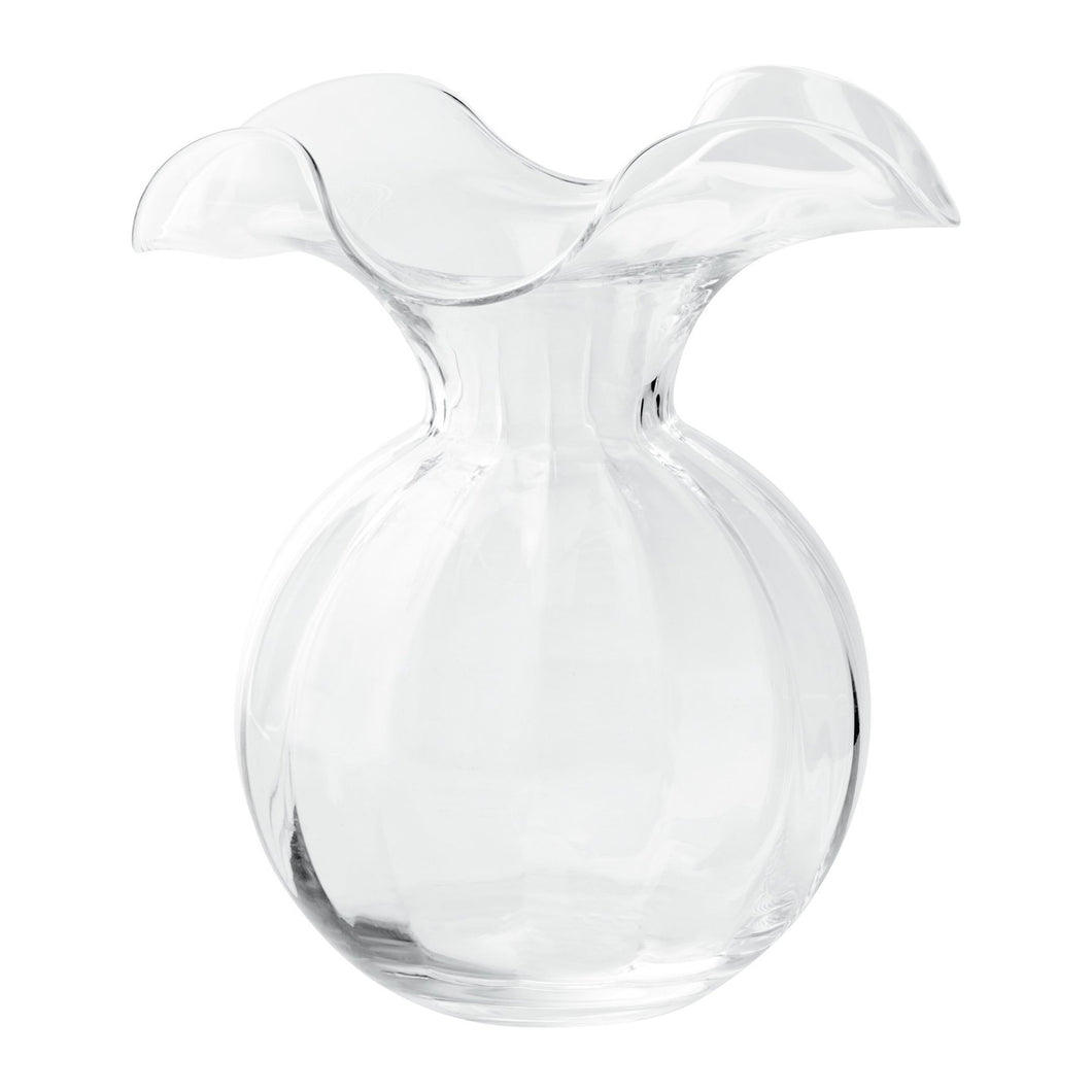 Vietri Hibiscus Glass Medium Fluted Vase