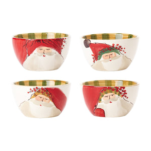 Vietri Old St. Nick Assorted Cereal Bowls, S/4