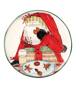 Vietri Old St. Nick Cookie Plate