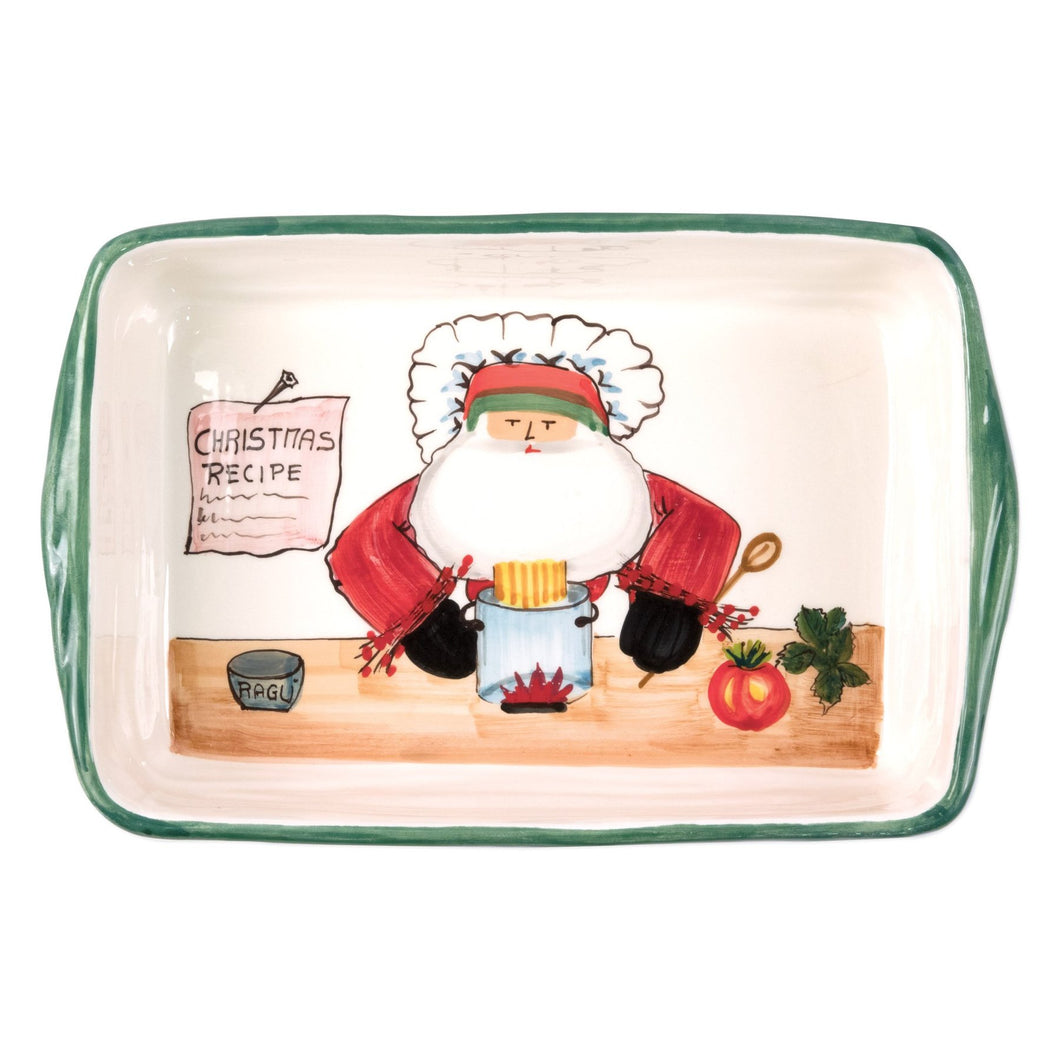 Vietri Old St. Nick Rectangular Baker Chef