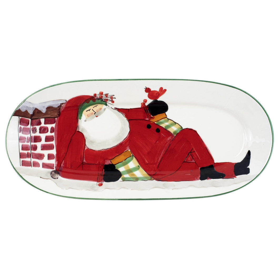 Vietri Old St. Nick Small Oval Platter