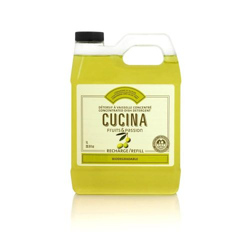 Cucina Fruits & Passion Coriander & Olive Tree Concentrated Dish Detergent Refill