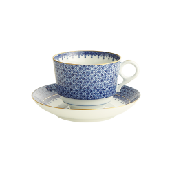 Mottahedeh Blue Lace Cup & Saucer