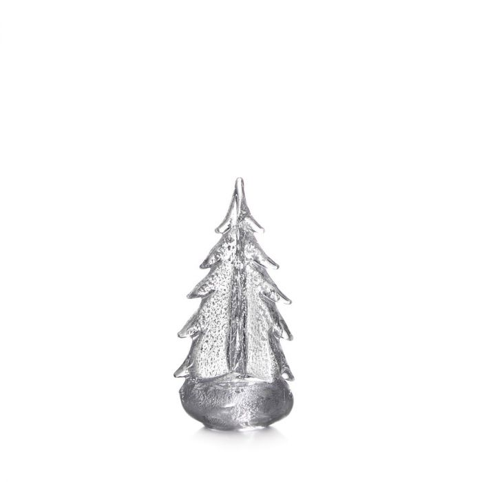 Simon Pearce Silver Leaf Evergreen in Gift Box - 10 Inch