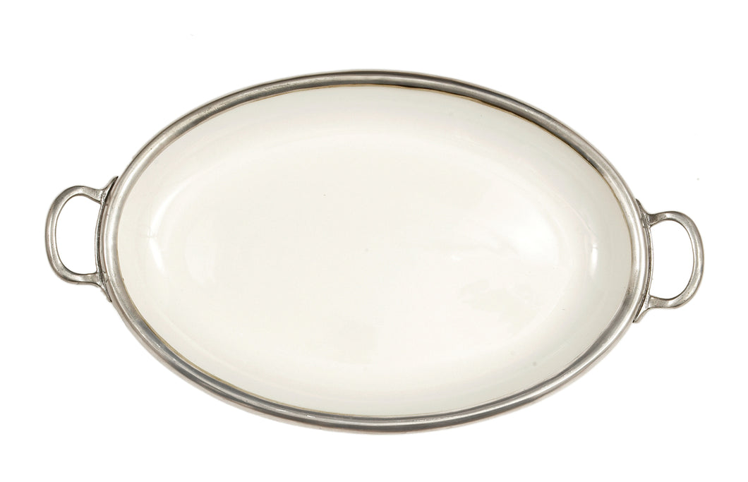Arte Italica Tuscan Large Oval Tray with Handles