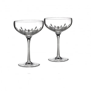 Waterford Lismore Essence Saucer Champagne Set of 2