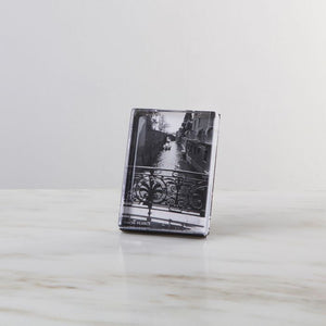 Simon Pearce Woodbury Vertical Photo Block in Gift Box - 7 x 5