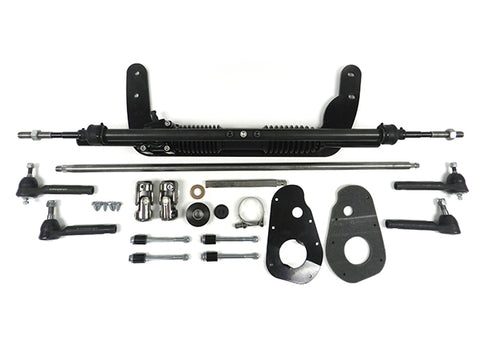 1960-65 Ford Falcon/Comet Manual Rack & Pinion Kit, Black