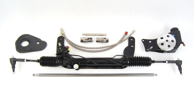 1960-65 Ford Falcon/Comet Power Rack & Pinion Kit, Black